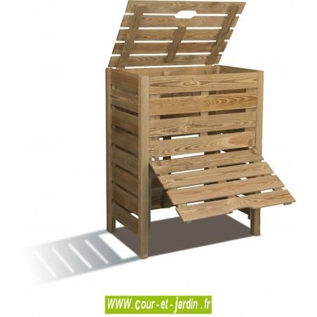 """Composteur 400L """"PRATIK"""" en bois"""