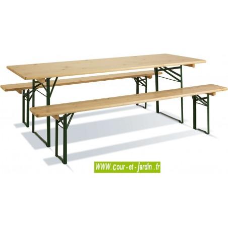 Table de banquet BRASSEUR avec 2 bancs