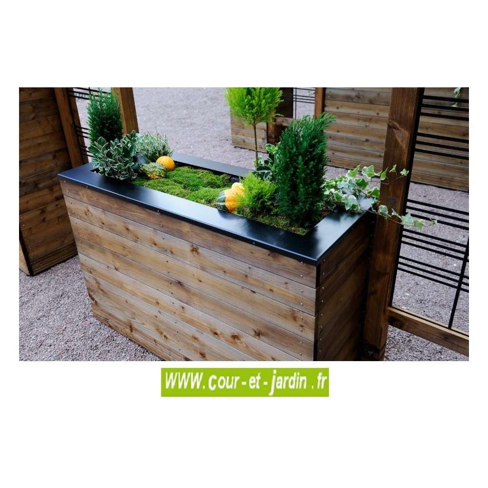Jardinière En Bois En Hauteur bacs jardinières bois bac à fleurs rectangulaire collectors
