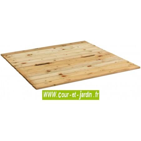 Bac à sable carré en bois 120x120 cm