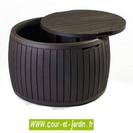 Coffre de rangement Tonneau Marron résine 132 L