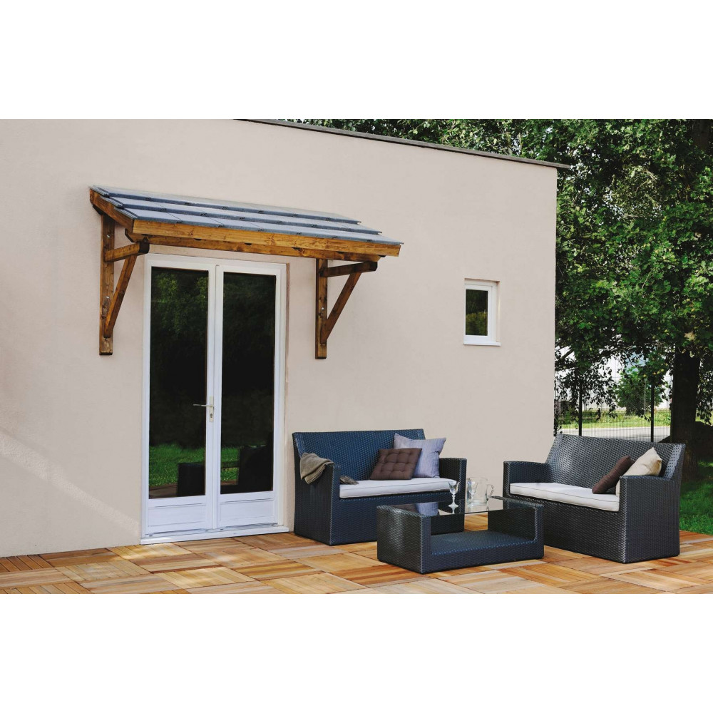 auvent de porte d 39 entr e en bois de garage marquise de. Black Bedroom Furniture Sets. Home Design Ideas