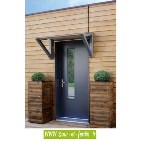 auvent de porte d 39 entree bois pas cher marquise moderne. Black Bedroom Furniture Sets. Home Design Ideas