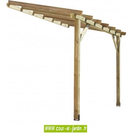 Auvent ABT3020 structure bois traité de 300x200
