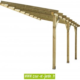 Auvent ABT4230 structure bois traité de 420x300