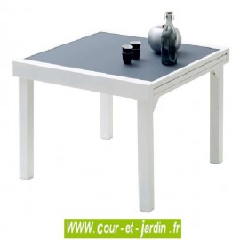 Table de jardin Modulo 4/8 - 90/180 gris perle