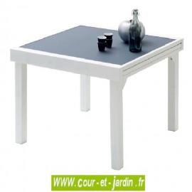 Table de jardin Modulo 4/8 - 90/180 gris perle