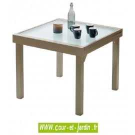 Table de jardin Modulo 4/8 - 90/180 taupe