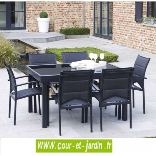 Best table jardin aluminium modulo images amazing house for Grande table extensible