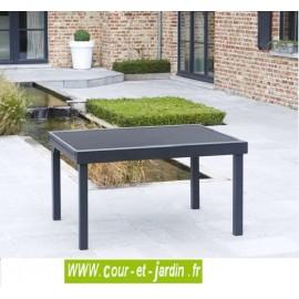Table de jardin Modulo 6/10 - 135/270 noire