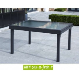 Table de jardin Modulo 6/10 - 135/270 grise