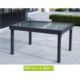 Table de jardin Modulo 6/10 - 135/270 grise