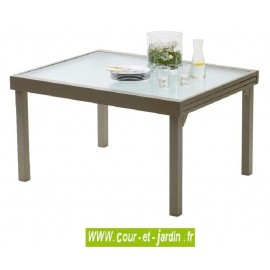 Table de jardin Modulo 6/10 - 135/270 taupe
