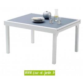 Table de jardin Modulo 6/10 - 135/270 gris perle