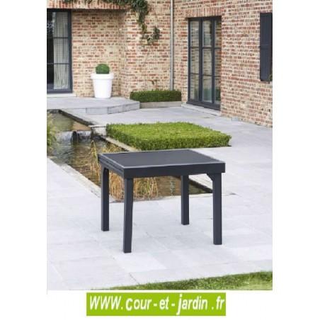 Salon de jardin modulo 4 8 noir alu textil ne - Salon de jardin alu et textilene nova ...