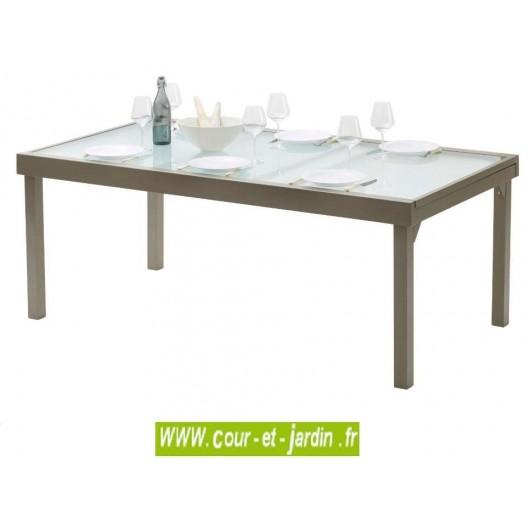 cfd2052ba72e78 Table de jardin Modulo 8 12 taupe - 200 320