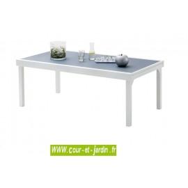 Table de jardin Modulo 8/12 gris perle - 200/320