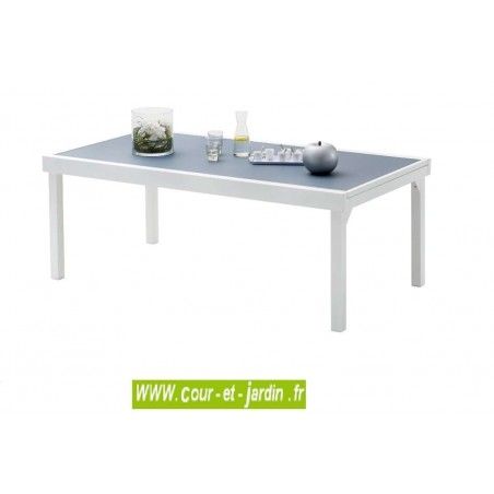 Table de jardin Modulo 8/12 gris perle - 200/320