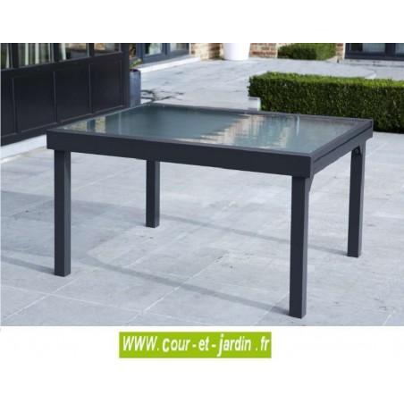 salon de jardin modulo 6 10 gris alu textil ne. Black Bedroom Furniture Sets. Home Design Ideas