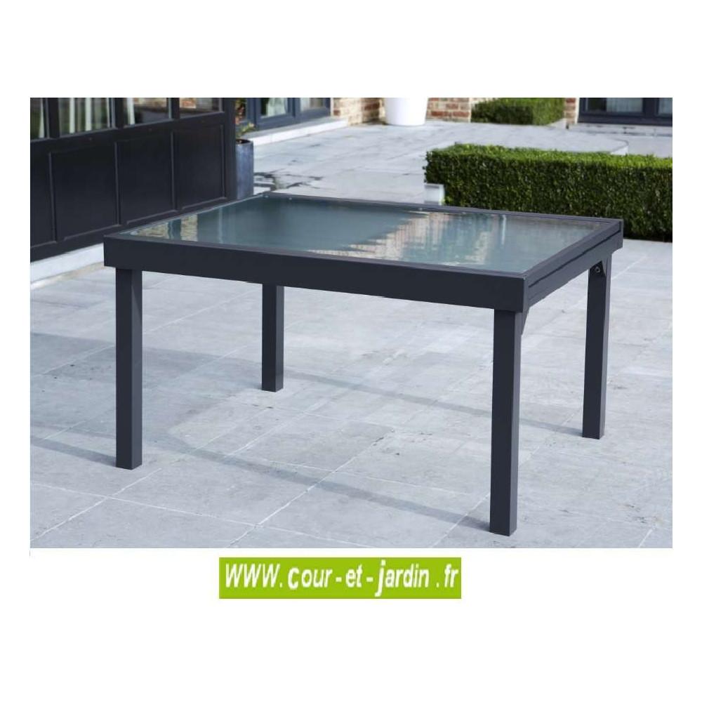 salon de jardin modulo 6 10 gris alu textil ne cour. Black Bedroom Furniture Sets. Home Design Ideas