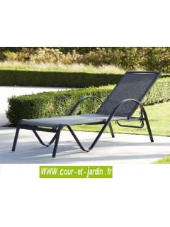 bain de soleil sunset alu textil ne gris anthracite. Black Bedroom Furniture Sets. Home Design Ideas