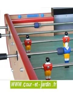 Tapis de jeu du Baby foot CLUB coloris hêtre  -  Ce babyfoot enfants et adultes est un baby foot gratuit car sans monnayeur
