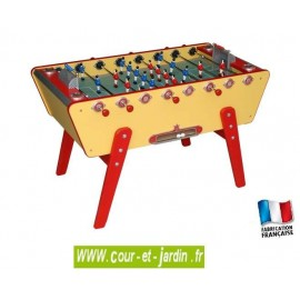 Baby foot CHAMPION COLLECTOR  jaune et rouge de Stella