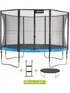Trampoline PUNCHI ATOLL - avec échelle et couverture