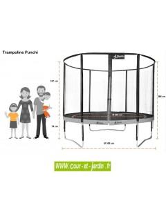 Trampoline PUNCHI ALOE 300 Kangui - dimensions