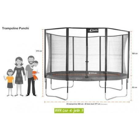 trampoline punchi aloe 360 kangui avec filet et chelle. Black Bedroom Furniture Sets. Home Design Ideas