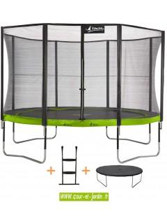 trampoline punchi aloe 430 kangui avec filet et chelle. Black Bedroom Furniture Sets. Home Design Ideas