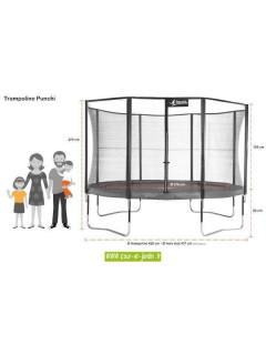 Trampoline PUNCHI ALOE 430 Kangui - dimensions