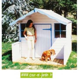 Maisonnette de jeux HUTTE à MAXOU 180x120cm - Cabane de jardin pour enfants