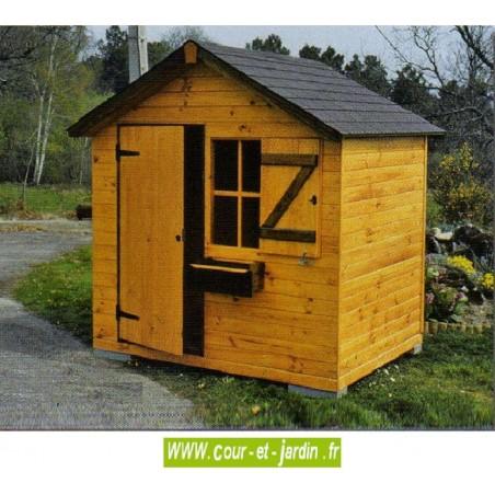 Chalet Agathe luxe avec plancher 200x150cm. Maison de jardin enfant
