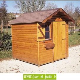 L'Abri de jardin ALSACE, un abri de jardin bois 4m2. dimensions de ces abris de jardin Alsace :  2m x 2m