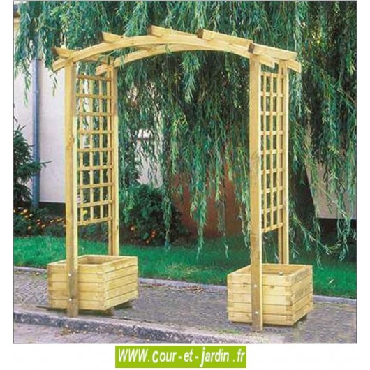 arche de jardin en bois arcade pergola de jardin. Black Bedroom Furniture Sets. Home Design Ideas