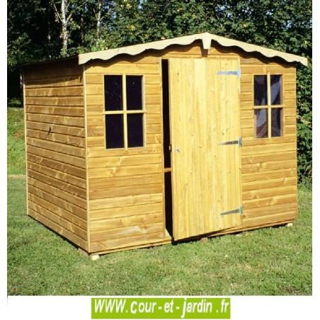 Abri de jardin EUROPE bois traité 15mm - 3,75m2, 250x150