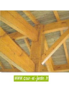 Abri 1 voiture en Charpente traditionnelle - carport bois 3x5m ou 3x6m
