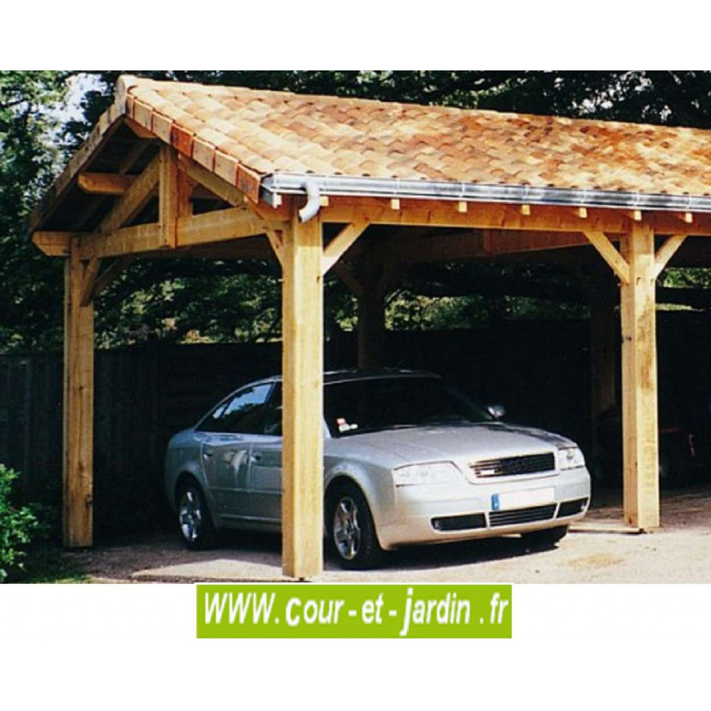 carport 3 voitures bois abri de voiture en kit charpente en kit. Black Bedroom Furniture Sets. Home Design Ideas
