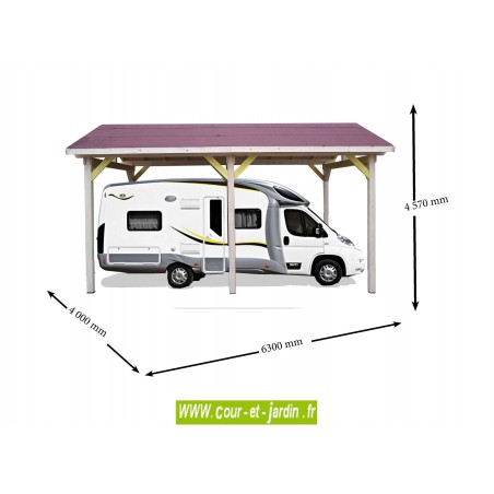 carport camping car bois abri camping car carport bois. Black Bedroom Furniture Sets. Home Design Ideas