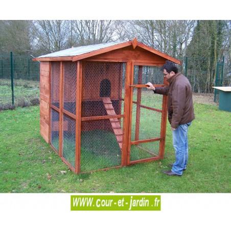Poulailler structure metallique great poulailler avec - Porte automatique poulailler pas cher ...