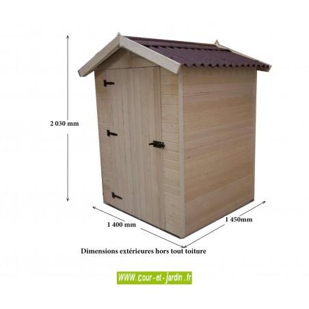 Abri Eden ED1212.01 en bois - dimensions hors tout