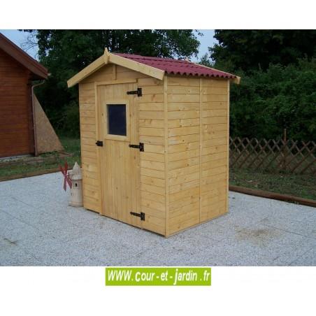 Abri Eden ED 1616.01 (160x160 cm, au sol) - Abri de jardin bois Eden. Cabanon en bois pas cher.
