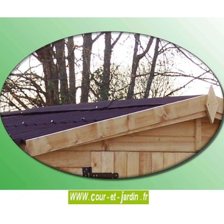Abri de jardin avec bucher  Eden ED 2416.01B  ou maison bois enfant.