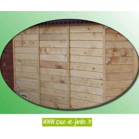 Petit Abri de jardin en bois Eden ED 2416.01B + Bûcher .  Abri vélos
