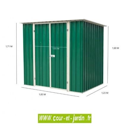 Abri de jardin métal AM1812 - dimensions