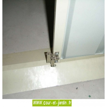 Abri de jardin métal AM1912 - 195x123cm - bloc porte