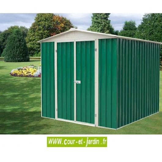 Abri de jardin metal 4m petit abri de jardin pas cher for Abri garage metal