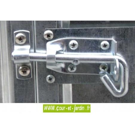 Abri de jardin métal AM2424T - Loquet de porte