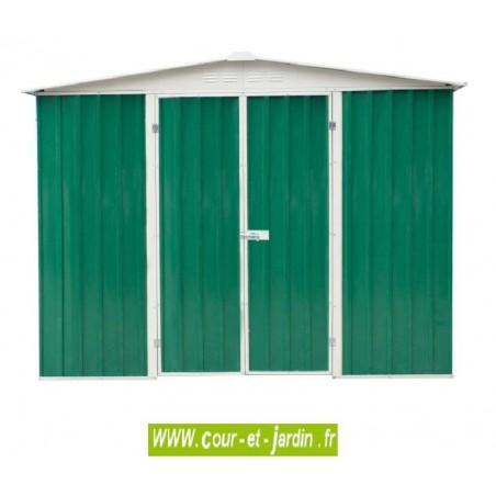 Abri de jardin métal AM2424T - 244x244cm - surf. 6 m2 Toit 2 pentes